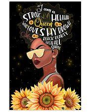 Afro Strong Melanin Queen 24x36 Poster front