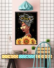 Afro Strong Melanin Queen 24x36 Poster lifestyle-poster-6
