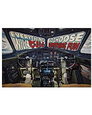 Flying Fortress Cockpit Choose Something Fun 2 36x24 Poster front