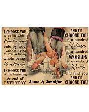 Gym Couple I Choose You 36x24 Poster front