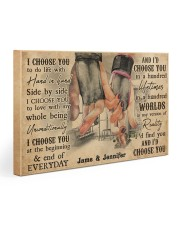 Gym Couple I Choose You 30x20 Gallery Wrapped Canvas Prints thumbnail