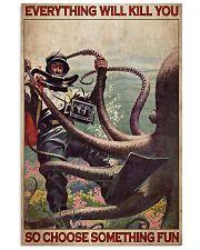 Scuba Diving Octopus 24x36 Poster front