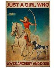 Girl Loves Archery And Dogs Live Happily Vertical Poster tile