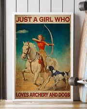 Girl Loves Archery And Dogs Live Happily 24x36 Poster lifestyle-poster-4