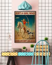 Girl Loves Archery And Dogs Live Happily 24x36 Poster lifestyle-poster-6