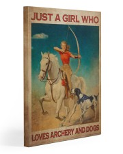 Girl Loves Archery And Dogs Live Happily 20x30 Gallery Wrapped Canvas Prints thumbnail