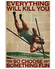 Pole Vaulting Choose Something Fun 24x36 Poster front