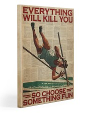 Pole Vaulting Choose Something Fun Gallery Wrapped Canvas Prints tile