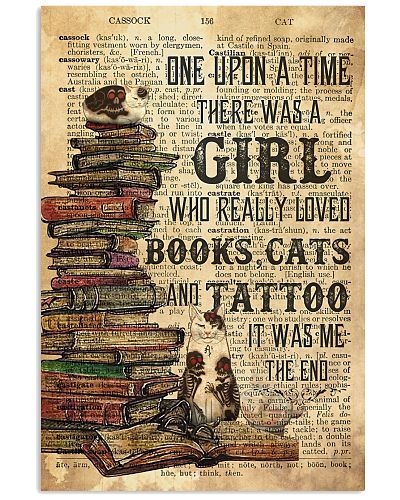 Love Reading Cat And Tattoo