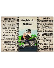 Couple Biker I Choose You 36x24 Poster front