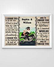 Couple Biker I Choose You 36x24 Poster poster-landscape-36x24-lifestyle-02