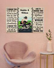 Couple Biker I Choose You 36x24 Poster poster-landscape-36x24-lifestyle-19