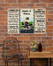 Couple Biker I Choose You 36x24 Poster poster-landscape-36x24-lifestyle-20
