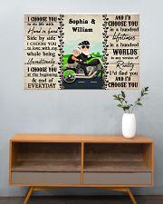 Couple Biker I Choose You 36x24 Poster poster-landscape-36x24-lifestyle-21