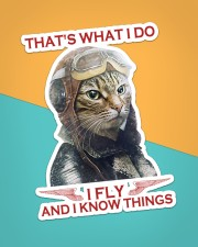 Cat Fly And Know Things Sticker - Single (Vertical) aos-sticker-single-vertical-lifestyle-front-02