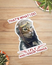 Cat Fly And Know Things Sticker - Single (Vertical) aos-sticker-single-vertical-lifestyle-front-07