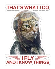 Cat Fly And Know Things Sticker - Single (Vertical) front