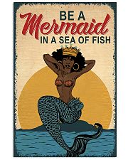 Be A Mermaid Afro 24x36 Poster front