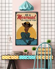 Be A Mermaid Afro 24x36 Poster lifestyle-poster-6
