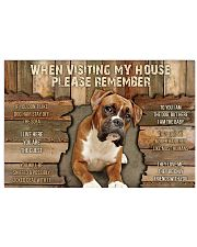 Boxer When Visiting  36x24 Poster front