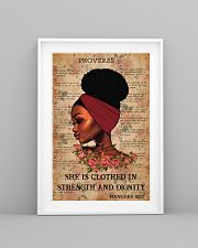 Afro Girl Proverbs 31:25 24x36 Poster lifestyle-poster-5