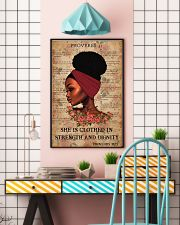 Afro Girl Proverbs 31:25 24x36 Poster lifestyle-poster-6