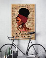 Afro Girl Proverbs 31:25 24x36 Poster lifestyle-poster-7