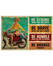 Biker Girl Be Badass 36x24 Poster front