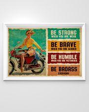 Biker Girl Be Badass 36x24 Poster poster-landscape-36x24-lifestyle-02