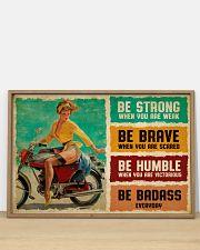 Biker Girl Be Badass 36x24 Poster poster-landscape-36x24-lifestyle-03
