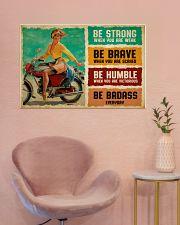 Biker Girl Be Badass 36x24 Poster poster-landscape-36x24-lifestyle-19