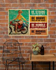 Biker Girl Be Badass 36x24 Poster poster-landscape-36x24-lifestyle-20