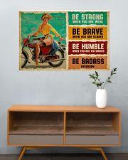 Biker Girl Be Badass 36x24 Poster poster-landscape-36x24-lifestyle-21