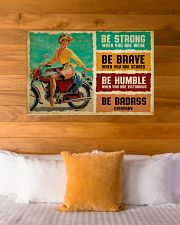 Biker Girl Be Badass 36x24 Poster poster-landscape-36x24-lifestyle-23