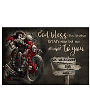Skull Motorcycle Broken Road 36x24 Poster front