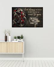 Skull Motorcycle Broken Road 36x24 Poster poster-landscape-36x24-lifestyle-01