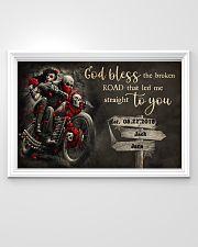 Skull Motorcycle Broken Road 36x24 Poster poster-landscape-36x24-lifestyle-02