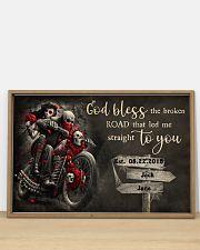 Skull Motorcycle Broken Road 36x24 Poster poster-landscape-36x24-lifestyle-03