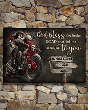 Skull Motorcycle Broken Road 36x24 Poster poster-landscape-36x24-lifestyle-15