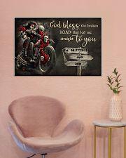 Skull Motorcycle Broken Road 36x24 Poster poster-landscape-36x24-lifestyle-19