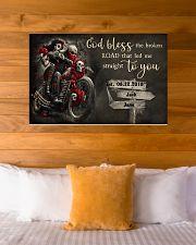 Skull Motorcycle Broken Road 36x24 Poster poster-landscape-36x24-lifestyle-23