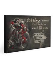 Skull Motorcycle Broken Road Gallery Wrapped Canvas Prints tile