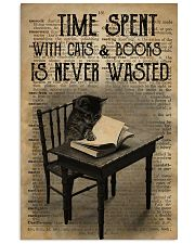 Time Spent With Cats And Books 24x36 Poster front