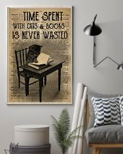 Time Spent With Cats And Books 24x36 Poster lifestyle-poster-1