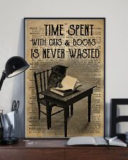 Time Spent With Cats And Books 24x36 Poster lifestyle-poster-2