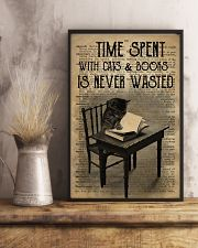 Time Spent With Cats And Books 24x36 Poster lifestyle-poster-3