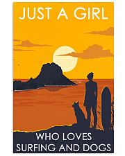 Girl Loves Surfing And Dog 24x36 Poster front