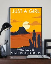 Girl Loves Surfing And Dog 24x36 Poster lifestyle-poster-2
