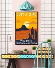 Girl Loves Surfing And Dog 24x36 Poster lifestyle-poster-6