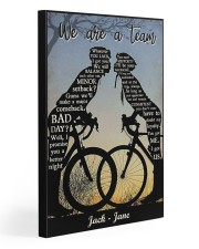 Cyclist Kissing 20x30 Gallery Wrapped Canvas Prints thumbnail